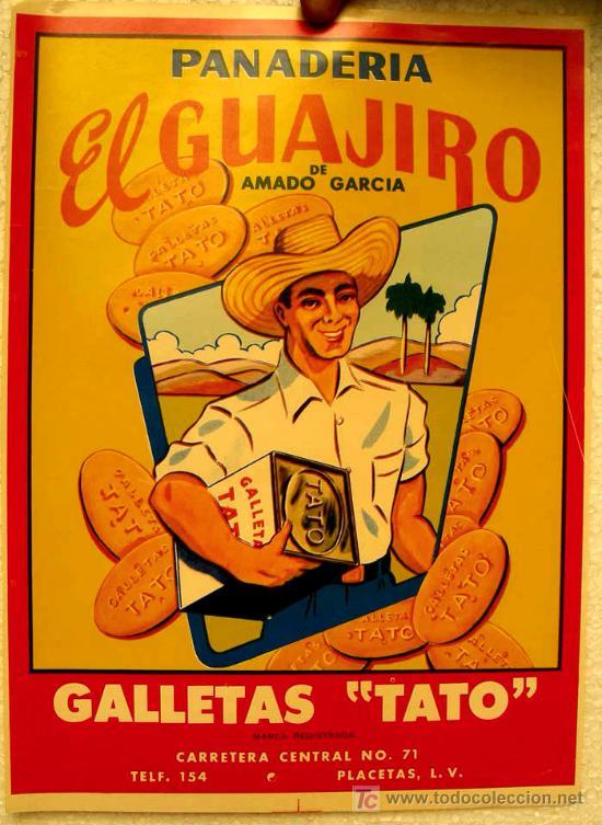 Cartel publicidad panaderia el guajiro galle comprar carteles antiguos publicitarios en - Carteles publicitarios antiguos ...