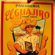 Carteles Publicitarios: CARTEL PUBLICIDAD , PANADERIA EL GUAJIRO, GALLETAS TATO, CUBA , AÑOS 40-50 . Lote 72742822
