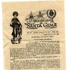 Carteles Publicitarios: SANTUARIO DE SANTA GEMA - 1963. Lote 8709981
