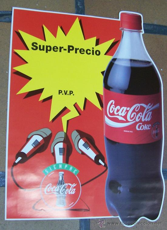 Cartel publicidad de coca cola super precio comprar carteles antiguos publicitarios en - Carteles publicitarios antiguos ...