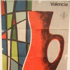 Carteles Publicitarios: CARTEL ORIGINAL PUBLICIDAD FERIA DE LA CERAMICA Y VIDRIO ,1969 (VIÑES) , VALENCIA FERIA MUESTRARIO. Lote 17487526