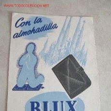 Carteles Publicitarios: CARTEL EN CARTULINA ALMOHADILLA BLUX. Lote 12877496
