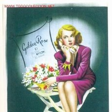 Carteles Publicitarios: CARTEL MEDIAS GOLDEN ROSE 51, 1951 , CARTULINA. LITOGRAFIA .. Lote 23700876
