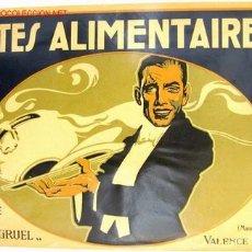 Affissi Pubblicitari: CARTEL PUBLICIDAD PATES ALIMENTAIRE, PASTAS ALIMENTICIAS , PANTAGRUEL , AÑOS 1920 , ORIGINAL , RB. Lote 102497735