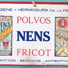 Affiches Publicitaires: CARTEL PUBLICITARIO DE POLVOS NENS FRICOT. DISTRIBUIDO POR PRODUCTOS FRICOT. BARCELONA, 1920/30. Lote 98998178