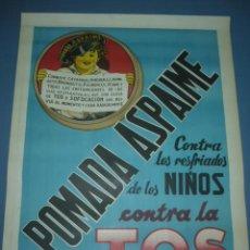 Carteles Publicitarios: CARTEL POMADA ASPAIME ASPAIME CONTRA LA TOS TAMAÑO 1000X70. Lote 130659044