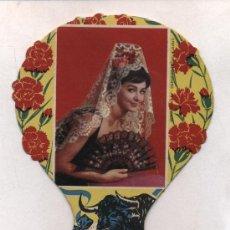 Carteles Publicitarios: ABANICO (18X12) RECUERDO DE ESPAÑA (EN CUATRO IDIOMAS).HELADERIA Nª SEÑORA DEL VALLE.LA PALMA. Lote 15495015