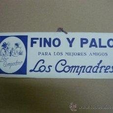 Carteles Publicitarios: CARTON VINO FINO Y PALO. Lote 27033184