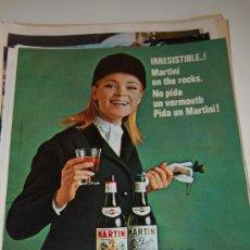 Carteles Publicitarios: HOJA PUBLICITARIA ALCOHÓLICA DE VERMOUTH MARTINI. 1968. IDEAL PARA ENMARCAR. Lote 20729184