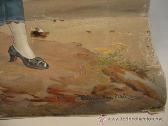Carteles Publicitarios: BONITA PUBLICIDAD UNION ESPAÑOLA DE EXPLOSIVOS 1916, J. MENENDEZ PIDAL. LITOGRAFIA COLOR. 58X35CM. - Foto 3 - 13923239