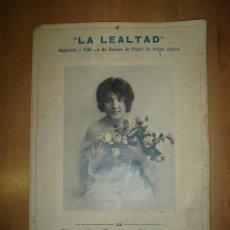 Carteles Publicitarios: CARTEL DE CARTON PUBLICITARIO DE LA LEALTAD IMPRENTA Y FABRICA DE PAPEL DE CLAUDIO GARCIA. SALAMANCA. Lote 17976898