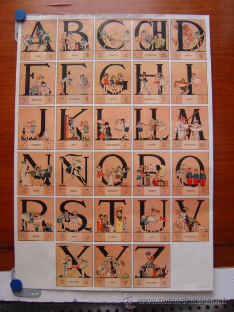 cartel abecedario, perfecto para enmarcar en ha - Comprar Carteles ...