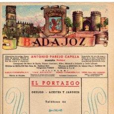Carteles Publicitarios: BADAJOZ,CARTELITO DE LA GUIA TELEFONICA DEL 1954. Lote 14512763