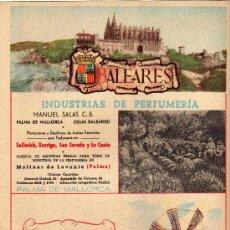 Carteles Publicitarios: BALEARES,CARTELITO PUBLICITARIO DE TELEFONICA 1954. Lote 25806810