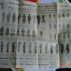 Carteles Publicitarios: 1184 MADRID BARCELONA ALMACENES EL AGUILA PUBLICIDAD AÑOS 1900 - MAS EN MI TIENDA C&C. Lote 26777381