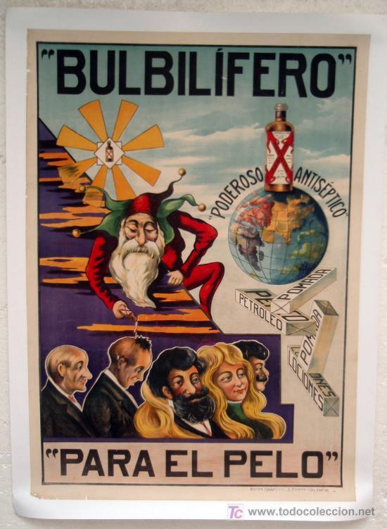 Cartel publicidad crecepelo bulbilifero siglo comprar carteles antiguos publicitarios en - Carteles publicitarios antiguos ...