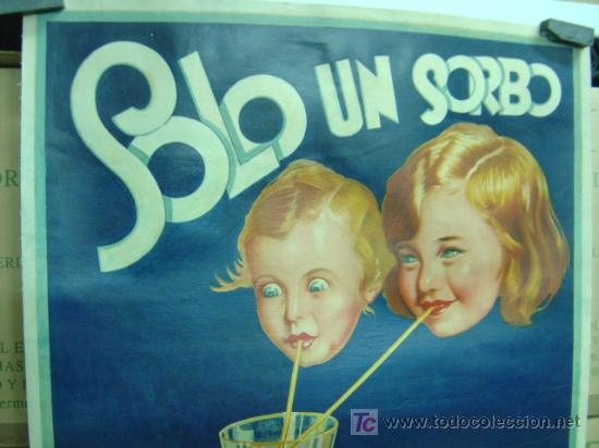 Carteles Publicitarios: Cartel Naranjada LEVANTINA, años 1910-20 - ENTELADO - Foto 3 - 26606267