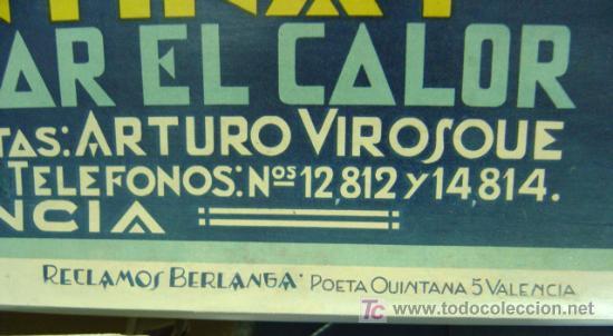 Carteles Publicitarios: Cartel Naranjada LEVANTINA, años 1910-20 - ENTELADO - Foto 6 - 26606267
