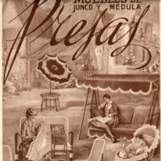 Carteles Publicitarios: CARTEL DE PAPEL -MUEBLES DE JUNCO Y MEDULA PRESAS DE BARCELONA.- CUCURULLA 9. Lote 18550974
