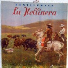 Carteles Publicitarios: CARTEL PUBLICIDAD , ANIS , DESTILERIAS LA HELLINERA, HELLIN , ALBACETE , AVILIO MARTINEZ. Lote 106144099