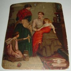 Carteles Publicitarios: ANTIGUO CARTEL DE CARTON PUBLICIDAD DE TABLETA DE ANTIKAMNIA - CALENDARIO 1907 - FARMACIA, MEDICIN. Lote 18955061