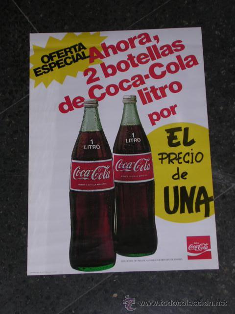 Cartel Coca Cola 1979 Oferta Especial Ahora 2 B Comprar Cartas Publicitários Antigos Em Todocoleccion 19564029