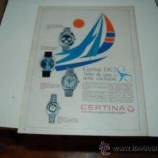 Affiches Publicitaires: HOJA PUBLICITARIA DE RELOJ CERTINA DS-2. AÑOS 70. IDEAL PARA ENMARCAR. Lote 20917057