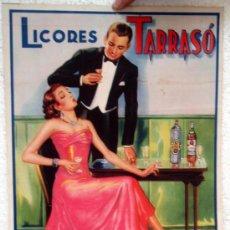 Carteles Publicitarios: CARTEL PUBLICIDAD LICORES TARRASO,VICENTE TARRASO FORNER, VALENCIA, CARTULINA.. Lote 21763549