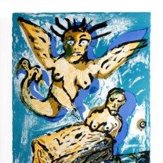 Carteles Publicitarios: COBRA CARTEL EXPOSICIÓN GAL JOAN PRATS NUEVA YORK 1986 GRAN TAMAÑO ALECHINSKY KAREL APPEL ASGER JORN. Lote 23742336