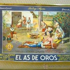 Carteles Publicitarios: CARTEL PUBLICITARIO, EL AS DE OROS, GENEROS DE PUNTO, VALENCIA, SANTIAGO ALGARRA, BARREIRA, 1930S. Lote 22622896