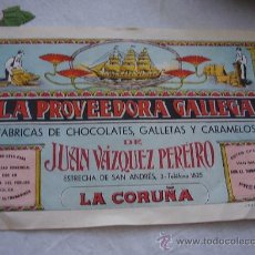 Carteles Publicitarios: CARTEL PUBLICIDAD LA PROVEEDORA GALLEGA. Lote 26060626
