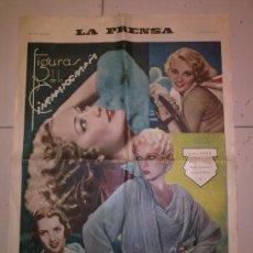 Carteles Publicitarios: CARTEL FIGURAS DE LA CINEMATOGRAFIA AÑO 1933. Lote 27480951