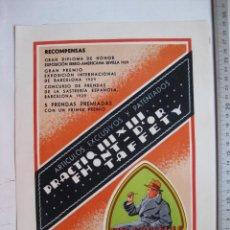 Carteles Publicitarios: SABADELL (BARCELONA) - ANONIMA TORRAS-FONT - CREACION-1934-PIEL D'ANGELUS. Lote 91245843