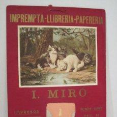 Carteles Publicitarios: IMPREMPTA MIRÓ - CARTON- MED.30 X 42 CM.- CALENDARIO 1933- VER FOTOS - (CARTEL-30). Lote 25265318