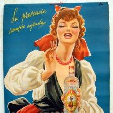 Carteles Publicitarios: CARTEL PUBLICIDAD ANIS LA ASTURIANA ASTURIAS , ORIGINAL , 1959 , ILUSTRADO POR NIKE. Lote 26413535