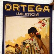 Carteles Publicitarios: CARTEL PUBLICIDAD LITOGRAFIA ORTEGA VALENCIA , ORIGINAL , 1959 , ILUSTRADO POR RUANO LLOPIES. Lote 26413589