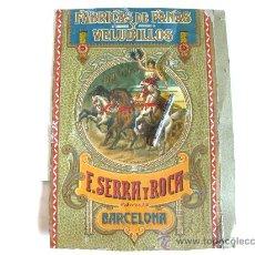 Carteles Publicitarios: FABRICA DE PANAS Y VELUDILLOS - E. SERRA Y ROCA BARCELONA. Lote 26834763