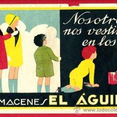 Carteles Publicitarios: CARTEL PUBLICIDAD ALMACENES EL AGUILA , ILUSTRADO POR CIDON, ORIGINAL, . Lote 26748378