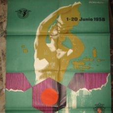 Carteles Publicitarios: GRAN CARTEL PUBLICITARIO - FERIA DE MUESTRAS DE BARCELONA - AÑO 1.958 - DOMENECH. Lote 27153278