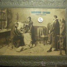 Carteles Publicitarios: 34 LABORATORIO CANTABRO SANTANDER PRECIOSO CARTEL PUBLICIDAD - EN CARTON - AÑOS 1930-40. Lote 28130152