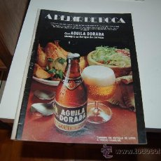 Carteles Publicitarios: HOJA PUBLICITARIA ALCOHÓLICA DE CERVEZA ÁGUILA DORADA, DE EL ÁGUILA. 1974. Lote 28635209
