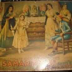 Carteles Publicitarios: CARTON PUBLICITARIO ALMACENES 'LA SAMARITANA'. VALENCIA, ILUSTRADO POR J. BARREIRA. LITOGRAFIA DURA. Lote 28657794