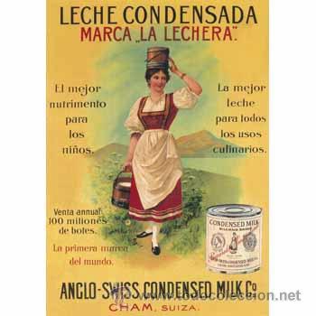 Lamina cartel clasico la lechera cuadro pa comprar - Carteles de cocina ...