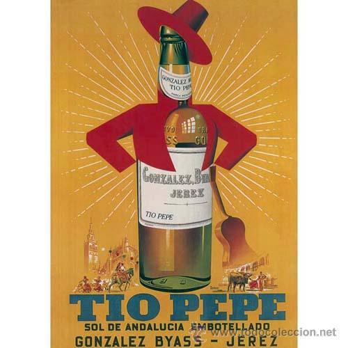 Lamina cartel clasico 50 x 70 cm tio pepe vi comprar carteles antiguos publicitarios en - Carteles de cocina ...