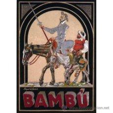Carteles Publicitarios: LAMINA CARTEL CLASICO 50 X 70 CM. TABACO: PAPEL DE FUMAR BAMBU . Lote 29635503