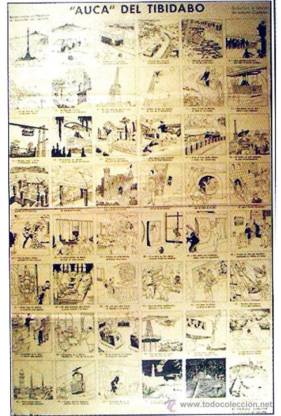 1960. ALELUYA - AUCA - DEL TIBIDABO, 48 VIÑETAS EN CASTELLANO POR VALENTIN CASTANYS. MED.38 X 60 CM (Coleccionismo - Carteles Gran Formato - Carteles Publicitarios)