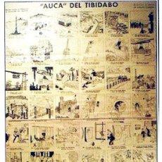 Carteles Publicitarios: 1960. ALELUYA - AUCA - DEL TIBIDABO, 48 VIÑETAS EN CASTELLANO POR VALENTIN CASTANYS. MED.38 X 60 CM . Lote 30248538