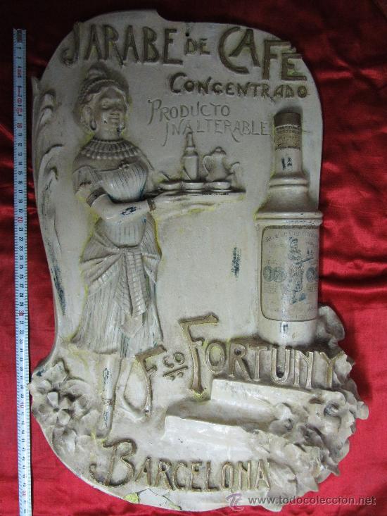 EXCEPCIONAL CARTEL EN ESTUCO ACARTONADO EN RELIEVE / MODERNISTA (Coleccionismo - Carteles Gran Formato - Carteles Publicitarios)