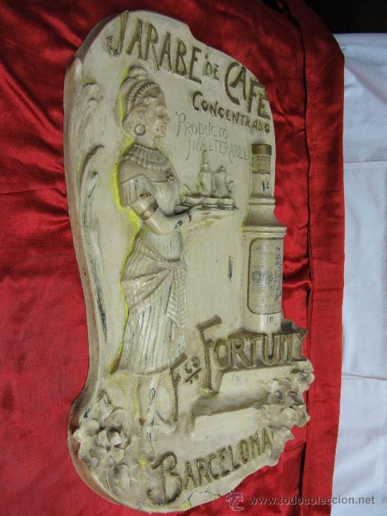 Carteles Publicitarios: Excepcional cartel en estuco acartonado en relieve / Modernista - Foto 2 - 30364513