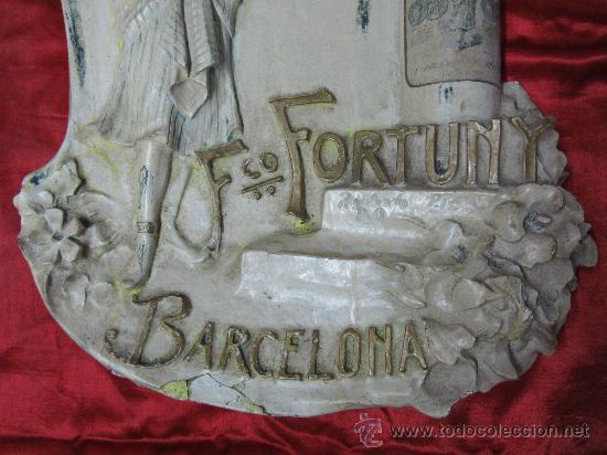 Carteles Publicitarios: Excepcional cartel en estuco acartonado en relieve / Modernista - Foto 5 - 30364513